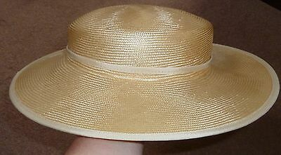 Vintage Peter Bettley Ladies Boater Style Summer Straw Hat Made in England