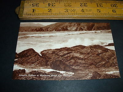 IRELAND  ATLANTIC ROLLERS AT MUCKROSS HEAD  Co DONEGAL  RP POSTCARD  1920/30