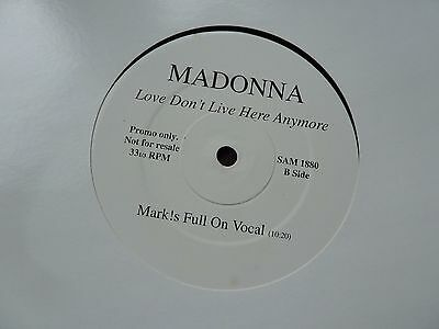 """Madonna LOVE DON'T LIVE HERE ANYMORE Mint Condition UK Promo Vinyl 12"""" Record"""