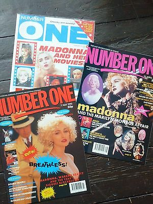MADONNA 3 Number One 1 Magazines Truth or Dare Promo LIKE A PRAYER Rare New