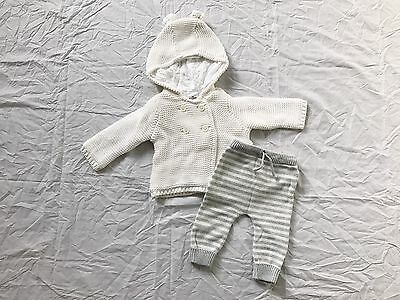 Target Newborn Baby Unixes Winter Knit Coat & Pants 0-3m