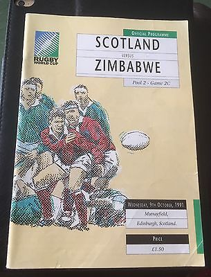 Rugby World Cup 1991 Scotland V Zimbabwe