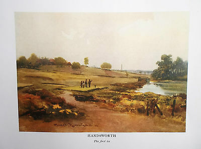 Golf Course Print HANDSWORTH Facsimile Of Original 1910 Painting The First Tee