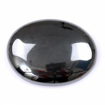 HUGE 40x30mm OVAL CABOCHON-CUT NATURAL BRAZILIAN HEMATITE GEMSTONE £1 NR!
