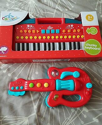 BN Chunky keyboard and guitar age 3+ years Keyboard is New and Boxed