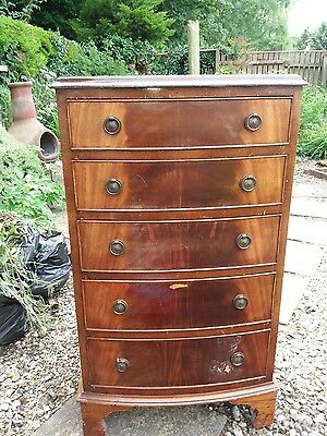 Reprodux Bevan Funnell  mahogany chest of 5 drawers collection only IP21 5HU