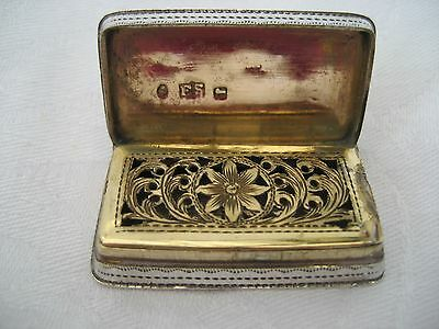EARLY VICTORIAN SOLID SILVER VINAIGRETTE - Edward Smith, 1838