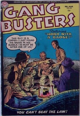 """Gangbusters #44 (1955) """"Hobo with a badge!"""""""
