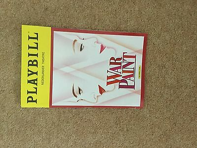 Patti Lupone War Paint Broadway Playbill Elizabeth Arden Helena Rubinstein