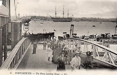 Postcard Portsmouth Steam Passenger Boat Alexandra Crowd Victory Ll Louis Levy