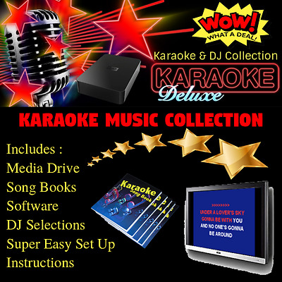 Professional Computer Karaoke & DJ Collection Library Set Up USB Hard Drive
