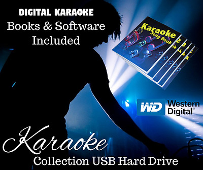 Professional Karaoke Collection Library Set Up USB Hard Drive