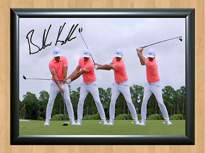 Brooks Koepka Golf Masters Ryder Cup Open Signed Autographed A4 Photo Print ball