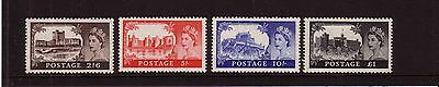 GB 1955 Waterlow Castles High Values,  Set of 4,  Superb MNH