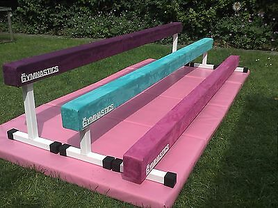 """gymnastic balance beam 8ft long 12"""" high in turquoise"""