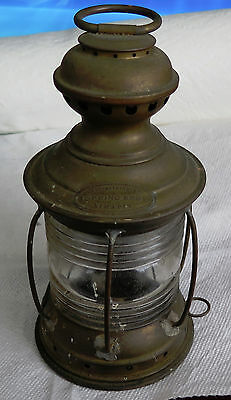 Vintage Brass Nautical Lantern made by Topping Bros New York
