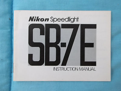 Nikon Sb-7E Instruction Manual-March 1978