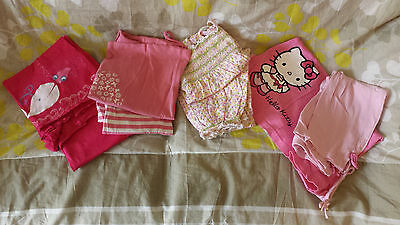 LOT 4 PYJAMAS fille 8 ANS belle saison * TTBE * TCF-DPAM-LA REDOUTE-HELLO KITTY