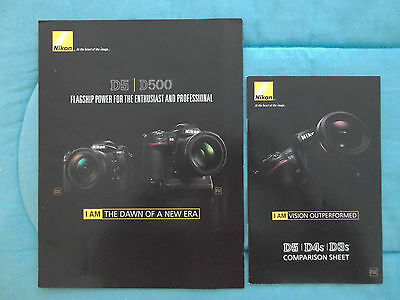 NIKON PRODUCT INFORMATION NIKON D5-D500-D5-D4s-D3s-DECEMBER 2015 & JANUARY 2016