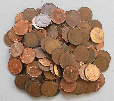 DECIMAL 1/2p HALF PENNY *  Bulk / Job Lot of 100 Mixed coins  * Elizabeth II