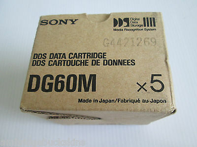 Sony Data Cartridge DG 60M Computer Grade 1.3GB Media Recognition System
