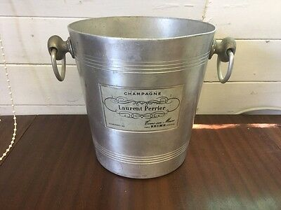 VINTAGE 1960's LAURENT PERRIER CHAMPAGNE BUCKET COOLER USED CONDITION