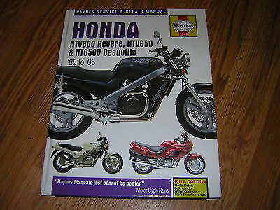 Haynes Service And Repair Manual Honda Ntv 88 To 05