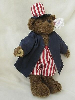 "Ty Lg Attic Treasures 13-15"" Jointed Beanie Bear With Tag"