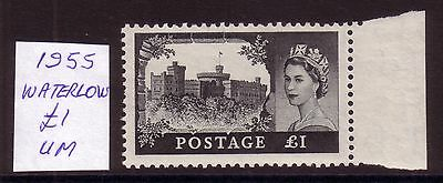 GB 1955  Waterlow  £1  Castles High Value,  Superb MNH.