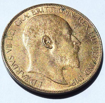 1902 - King Edward VII - Uncirculated Penny Full lustre COIN