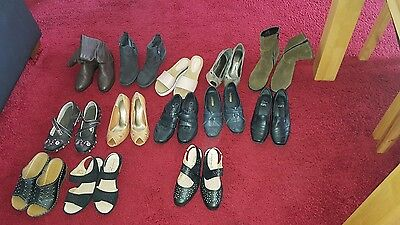 Job lot of 13 pairs of women shoes size 4 including Marks and Spencer , Clarks