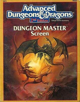 REF1 DUNGEON MASTER'S SCREEN Master TSR AD&D D&D Dungeons Dragons Guide 9263