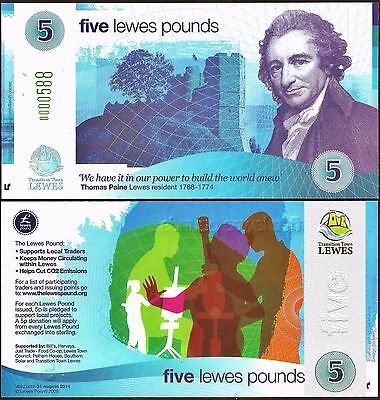 England - Lewes -Their 1st of 5 £5 notes, easily the nicest, rarest and dearest.