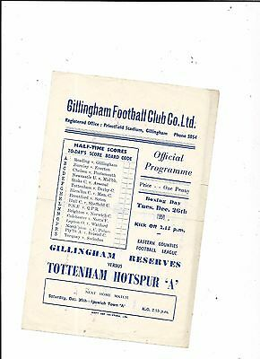 "Gillingham Reserves v Tottenham ""A"" 26/12/1950  Eastern Counties League"