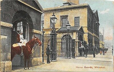 POSTCARD  MILITARY  Horse   Guards     Whitehall