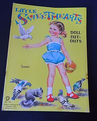 Vintage Uncut Little Sweethearts Cut-Out Paper Doll Book Karen & Susan Stephens