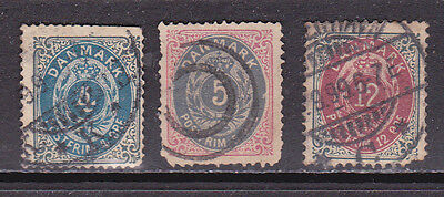 Denmark 3 Earlies Used Cat £90