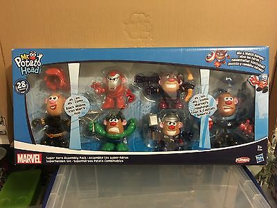 Mr Potato Head Marvel Super Hero Assembly Pack 28 Pieces 6 Avengers Characters