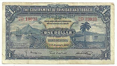 2 King George VI banknotes from Trinidad and Tobago.