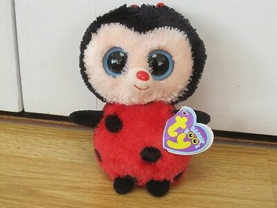 """Ty Bugsy Ladybird Plush Soft Toy 6"""" Beanie Boo With Tag"""