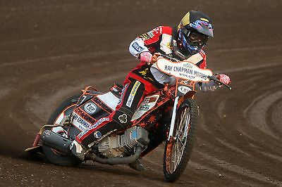 Belle Vue Aces----Jack Smith-----2017-----10X8----Speedway----Action Photo