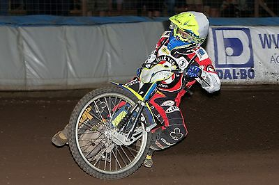 Belle Vue Aces----Kenneth Bjerre-----2017-----10X8----Speedway----Action Photo