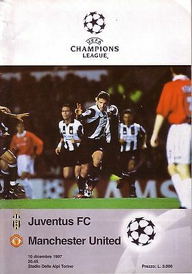 JUVENTUS v MANCHESTER UNITED 1997/98 CHAMPIONS LEAGUE