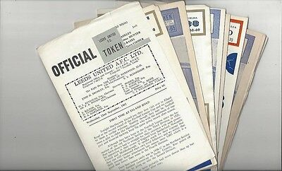 9 Different Leeds United Home Football Programmes 1964/65 - 1969/70