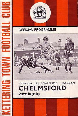 KETTERING TOWN v CHELMSFORD CITY 1972/73 SOUTHERN LEAGUE CUP