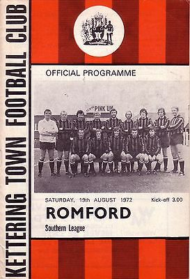 KETTERING TOWN v ROMFORD 1972/73 SOUTHERN LEAGUE