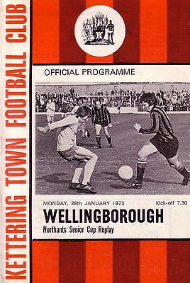 KETTERING TOWN v WELLINGBOROUGH 1972/73 NORTHANTS SENIOR CUP