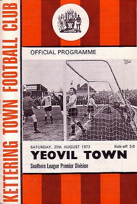 KETTERING TOWN v YEOVIL TOWN 1973/74 SOUTHERN LEAGUE