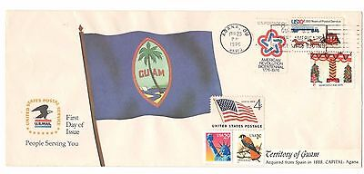1976 Territory of the Guam FDC USA stamps Event Cover Cachet 6 stamps