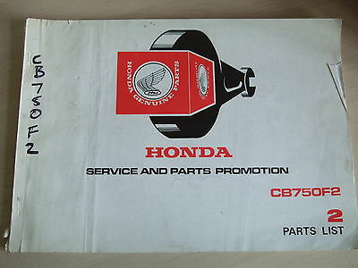 Genuine Honda Parts List Book Manual for CB750F2 No.2 Four, 1970s,  1341023